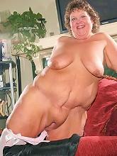 Massive BBW playfully stripping...